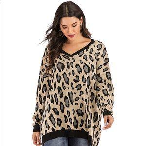 NWT Yomoko Leopard Print Sweater